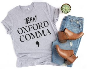 team oxford comma shirt